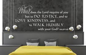 Vinyl Wall Decal Micah 6 8 What Does The Lord Etsy
