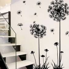 50 70cm Removable Black Beautiful Dandelion Wall Stickers Living Room Bedroom Dream Of Flying Wall Sticker Home Decor Sticker On The Wall Decals Diy Dandelion Art Wall Decor Decals Walmart Com Walmart Com