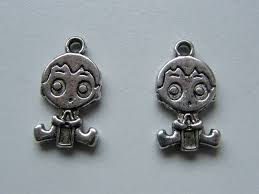 antique silver tone bs9 charms