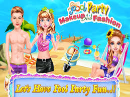 pool party makeup fashion ipad