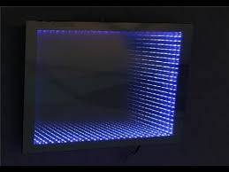 make an led illusion mirror with frame