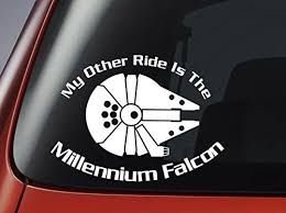 Star Wars Stickers My Other Ride Is The Millennium Falcon Vinyl Decal Window Laptop Decal Sticker Car Stickers Aliexpress