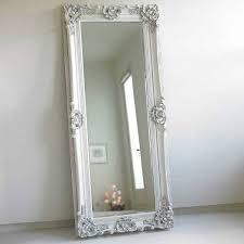 mirror with frame colour white fl