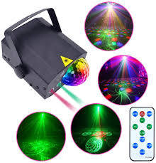 Amazon Com Party Lights Disco Ball Dj Music Disco Lights Indoor Stage Laser Show Light Projector Strobe Sound Activated With Remote Control For Kids Room Home Parties Rotating Portable Led Rave Lights Home