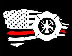 American Flag Red Line Firefighter Vinyl Decal Window Sticker Cartattz In 2020 Vinyl Decals American Flag Sticker Firefighter Decals