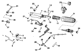 johnson steering shift handle parts