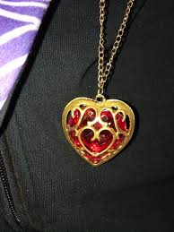 link heart necklace fantasy mystical
