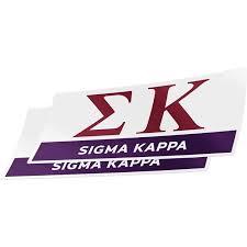 Sigma Kappa 2 Pack Decal Greek For Window Laptop Computer Car Color Letter Name Sticker Walmart Com Walmart Com