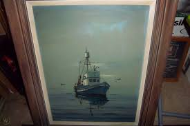 Winifred Witton Smith oil on canvas fishing boat (JEANNIE ...