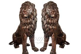 lion statues for garden ornaments