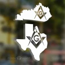 Masonic State Vinyl Decal Fossil Bluff