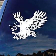 Amazon Com Socooldesign Mexican Eagle Car Window Vinyl Decal Sticker 6 Wide White Automotive