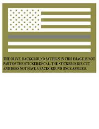 Thin Silver Line American Flag Corrections Officers Window Decal Sticker Ebay