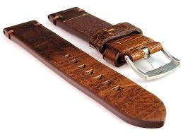 genuine leather watch strap band ss