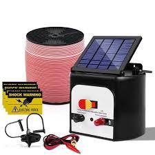 8km Solar Electric Fence Energiser Energizer 0 3j 2000m Electrical F Furniture Savings