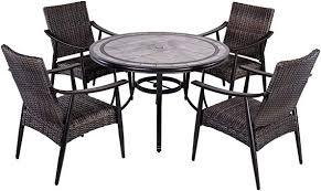 dali 5 piece patio dining set outdoor