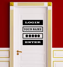 Customizable Vinyl Decal Quote Login Password Video Game Computer Door Wallstickers4you
