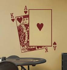 Playing Cards Ace And King Wall Art Sticker Decal For Sale Online Ebay