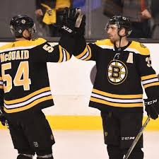 Adam McQuaid skated with the Bruins at captains' practice today ...