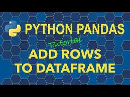 python pandas add rows to dataframe