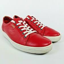 tomato red leather nubuck shoe size