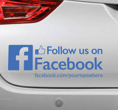 Follow Us On Facebook Sticker Tenstickers