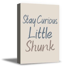 Awkward Styles Motivational Quotes Art For Kids Living Room Stay Curious Little Shunk Funny Quotes For Home Decor Ready To Hang Canvas Decor Canvas Artwork Girls Room Wall Art Boys Room Poster