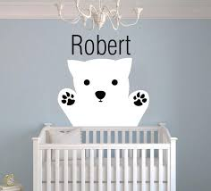 Custom Name Polar Bear Wall Decal Egraphicstore