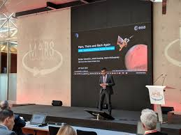 """Adam McSweeney on Twitter: """"Sanjay Vijendran (@esa) is presenting on the  third and final mission concept needed to complete the Mars Sample Return  campaign, the Earth Return Orbiter (and another European contribution) #"""
