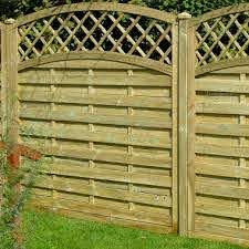 Fence Panel 454 Planed Timber 9mm Reeded Boards 3x2 Frame