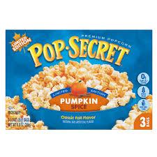 pop secret pumpkin e kettle corn