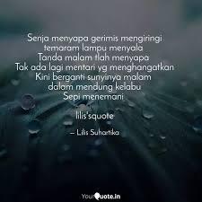 senja menyapa gerimis men quotes writings by lilis