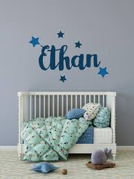 Personalised Name And Stars Wall Sticker Name Wall Stickers Name Wall Decals