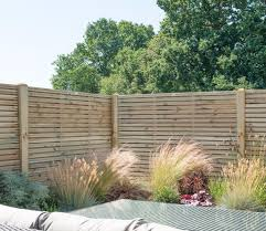 Forest Double Slat Contemporary 6 X 5 Ft Fence Panel Gardensite Co Uk