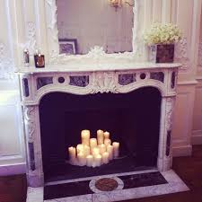 home mirror candles fireplace