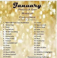 january makeup challenge day 1