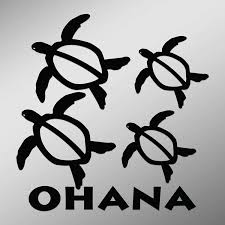 Amazon Com Ohana Hawaiian Sea Turtle Family With 2 Babies Vinyl Decal Sticker Car Waterproof Car Decal Bumper Sticker 5 Kitchen Dining
