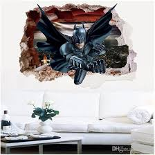 Batman 3d Broken Wall Art Wall Mural Stickers Pvc Movie Wall Decals For Living Room Kids Room Home Decoration Wall Stickers Vinyl Wall Stickers Wall Graphics From Jy9146 3 99 Dhgate Com