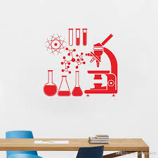 Microscope Science Scientist Chemistry Vinyl Wall Sticker School Laboratory Wall Art Mural Decals Decor Wall Cling Wall Cling Art From Joystickers 8 06 Dhgate Com