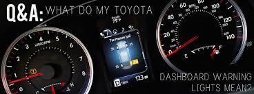 my toyota dashboard warning lights mean