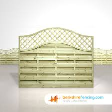 Omega Lattice Top Fence Panels 5ft X 6ft Natural Berkshire Fencing