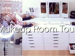 room tour makeup collection