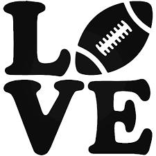 Love Football Vinyl Decal Sticker