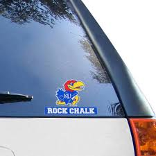 Kansas Jayhawks Wincraft 4 X 5 Perfect Cut Decal
