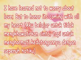 gambar kata mutiara cinta bahasa inggris