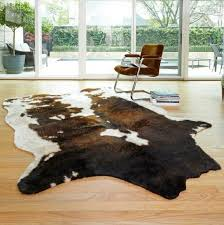 area rug faux cow rawhide animal print