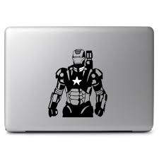 Marvel Comics Iron Man Mark Ii War Machine With Glowing Us Star Arc Reactor Apple Macbook Air Pro 11 13 15 17 Vinyl Decal Sticker Dreamy Jumpers