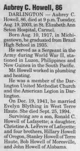 Aubrey C Howell Obituary - Newspapers.com