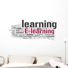 E Learning Wall Decal By Wallmonkeys Peel And Stick Graphic 48 In W X 20 In H Wm346953 Walmart Com Walmart Com
