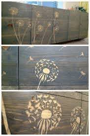 Use Wood Glue And A Stencil To Block The Stain 3 In 2020 Stenciled Furniture Diy Stencil Furniture Creative